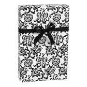 "Damask Gift Wrap, Black/White, 30"" x 100'"