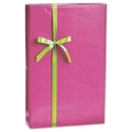 Mini Dots Gift Wrap, White/Pink, 30in. x 100'