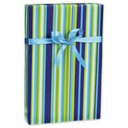 "Flamenco Gift Wrap, Blue/Green, 30"" x 100'"