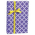 Casablanca Gift Wrap, Purple/White, 30in. x 100'
