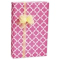 Casablanca Gift Wrap, Pink/White, 30in. x 100'