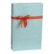 Chevron Gift Wrap, White/Aqua, 30 x 100'