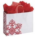 Holiday Lace Shoppers, White /Red, 16in. x 6in.