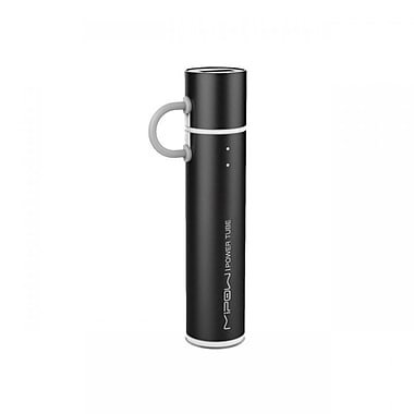 MiPow SP2600MBK Power Tube Micro USB Portable Charger, 2600mAh, Black
