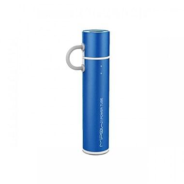 MiPow SP2600MLB Power Tube Micro USB Portable Charger, 2600mAh, Blue
