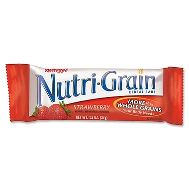 Kelloggs Nutri-Grain Strawberry Cereal Bar, 1.3 oz., 32/Pack