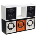 WOLF Cub and Cubbies Module 1.8 Cubby Watch Winder, Black