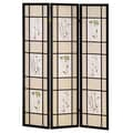Ore International® 70in. x 50in. 3 Panel Floral Scenery Shoji Screen Room Dividers