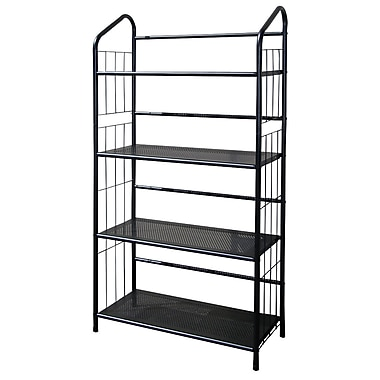 Ore International® 4 Tier Metal Book Shelf, Black