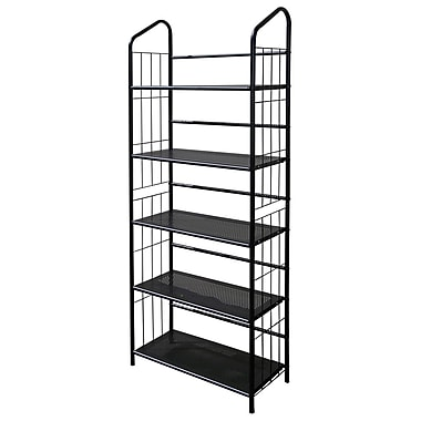 Ore International® 5 Tier Metal Book Shelf, Black