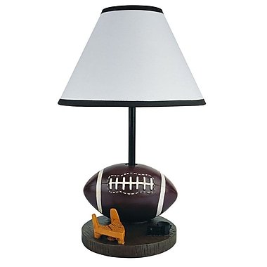 Ore International® 15in. Football Accent Lamp, Brown