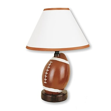 Ore International® 15in. Ceramic Football Table Lamp, Brown