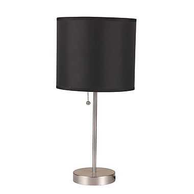 Ore International® 19in. Brush Steel Table Lamps
