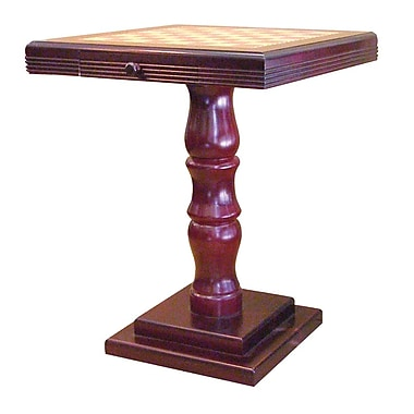 Ore International® 27in. x 22in. x 22in. Composite Wood Chess Table, Rich Cherry