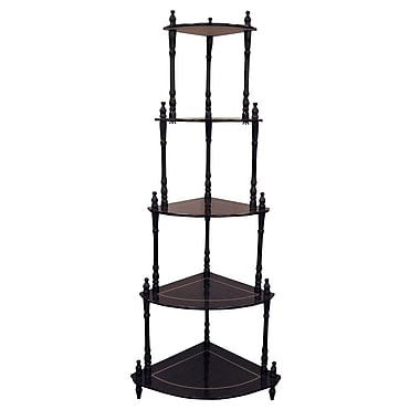 Ore International® 47 1/2in. x 18in. x 14 1/2in. Composite Wood 5 Tier Corner Stand, Rich Cherry