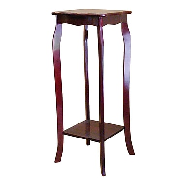 Ore International® 30in. x 12in.x 12in. Composite Wood Phone Table, Cherry