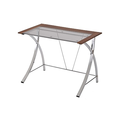 Ore International® 3' Casual Computer Desk, Natural Brown