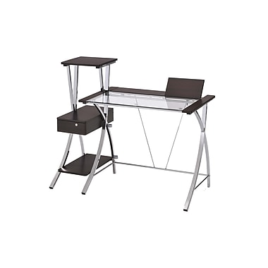 Ore International® 5.6' Modern Computer Desk, Black/Chrome