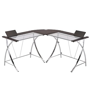 Ore International® 5.3' Modern Computer Desk, Black/Chrome