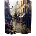 Ore International® 4 Panel Victorian Town Room Divider, 71in. x 64in., Multicolored