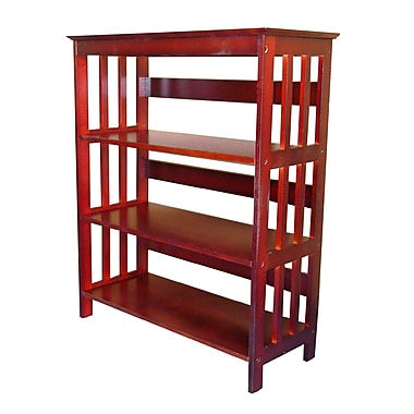 Ore International® Home Decorators Collection 3 Tier Rubberwood Bookcase, Cherry