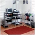 Altra Furniture Computer Desk with Bookcase, BLACK