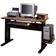 Altra Furniture Computer Desk, MEDIUM OAK - IMPORT