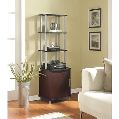 Carson Audio Stand, Cherry/Black
