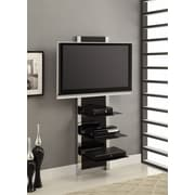 Altra Furniture Chrome AltraMount TV Stand, BLACK