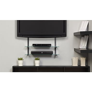 Altra Furniture AltraMount Quick Mount with Glass Shelves, BLACK
