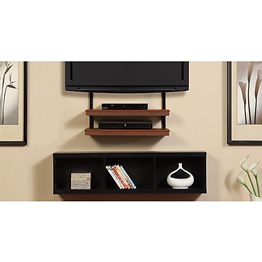 Altra Furniture AltraMount Quick Mount with Shelves, CHERRY
