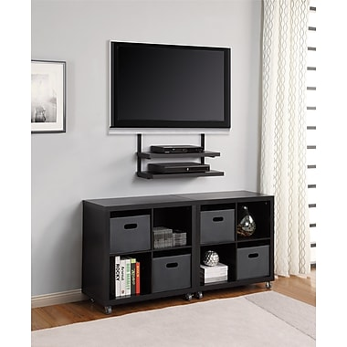 Altra Furniture AltraMount Quick Mount with Hollow Core Shelves, BLACK