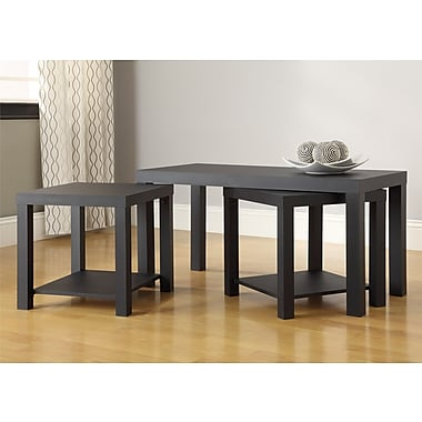 Altra Holly Bay Coffee Table and End Table Set, Black