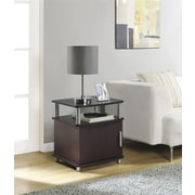 Altra Furniture Carson End Table with Storage, Espresso Finish, CHERRY/BLACK