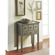 Altra Furniture Accent Console Table with 6 Drawers, GRAY