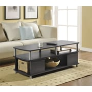 Carson Coffee Table, Espresso/Silver