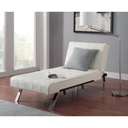 DHP Emily Chaise Lounger -  Vanilla