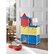 Altra Furniture 5-bin Storage Unit with Castle Theme, RED