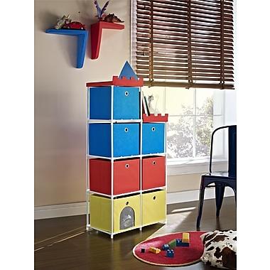 Altra Furniture 7-bin storage Unit with Castle Theme, RED
