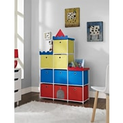 Altra Furniture 9-bin storage Unit with Castle Theme, RED
