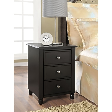 Altra Furniture Winslow End Table with 3 Drawers, ESPRESSO