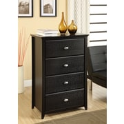 Altra Furniture Chelsea 4 Drawer Storage Chest, BLACK