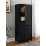 Altra Furniture Chelsea LIngerie Storage Chest, BLACK