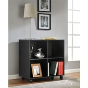 Altra Furniture 4 Cube Mobile Storage, BLACK