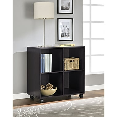 Altra Furniture 4 Cube Mobile Storage, ESPRESSO