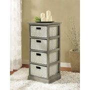 Altra Furniture Storage Unit with 4 Baskets, GRAY