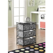 Altra Furniture 3-Bin Storage End Table , PATTERN/DESIGN
