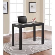 Parsons Desk with Drawer, Black Oak