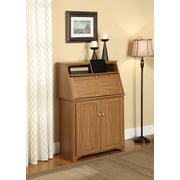 Altra Furniture Hillary Secretary Desk, MEDIUM OAK - IMPORT