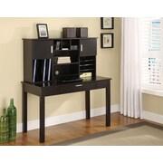 Altra Furniture Desk with Organizational Hutch, ESPRESSO